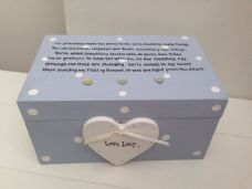 Shabby Personalised Chic Bridesmaid Maid Matron Of Honour Jewellery Trinket Box